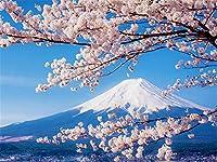 大人のための5000ピースのジグソーパズル-富士山さくら-非常に挑戦的な大人とティーンのパズルゲーム