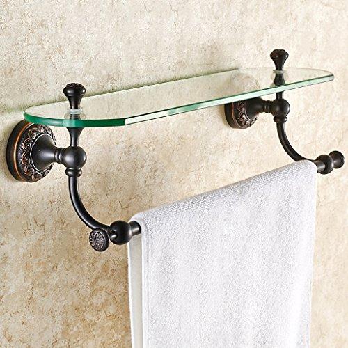 Tous les étagères en verre de style européen en bronze rétroélectrique Étagères en verre à une seule couche/salle de bains