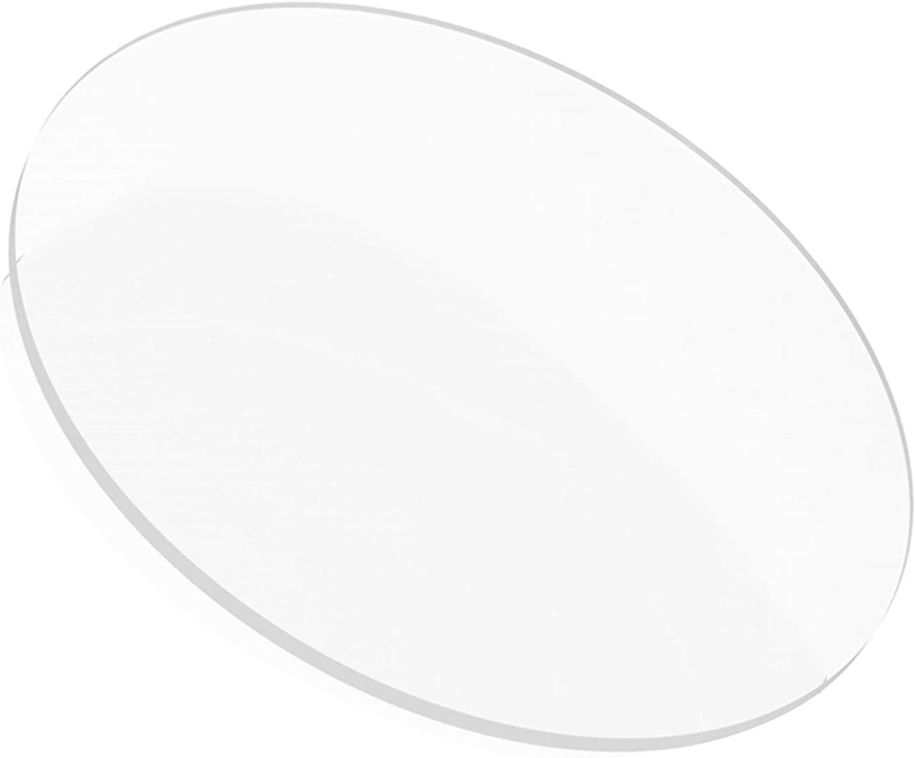 10cm//3.9inch,Diameter MHUI Clear Acrylic Sheet Perspex Board 5mm Thickness for DIY Craft Advertisement Making,Diameter 10 cm