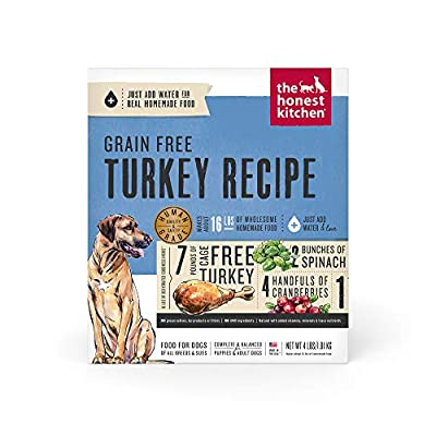 The Honest Kitchen Human Grade Dehydrated Grain Free Turkey Dog Food 4 lb - Embark, (Model: E4) by The Honest Kitchen