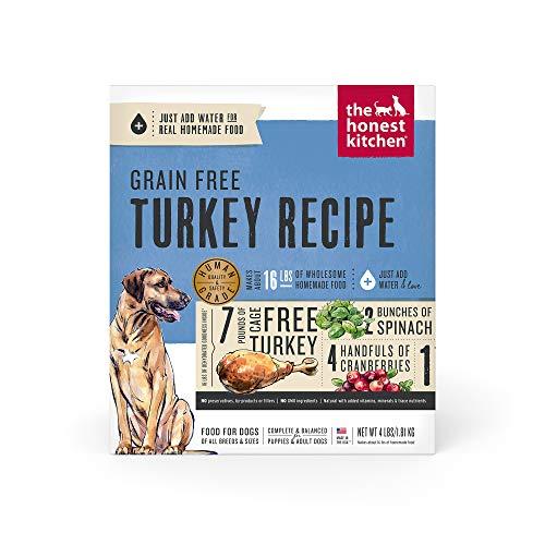 The Honest Kitchen Human Grade Dehydrated Grain Free Turkey Dog Food 4 lb - Embark, (Model: E4)