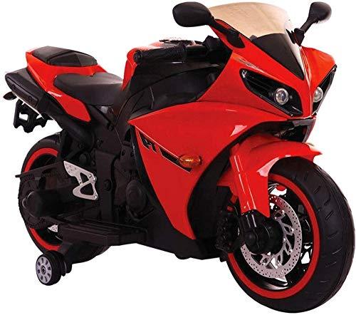 Tecnobike Shop Moto Elettrica per Bambini Faster 12v R1 Illuminata Luci e Suoni LED (Rosso)