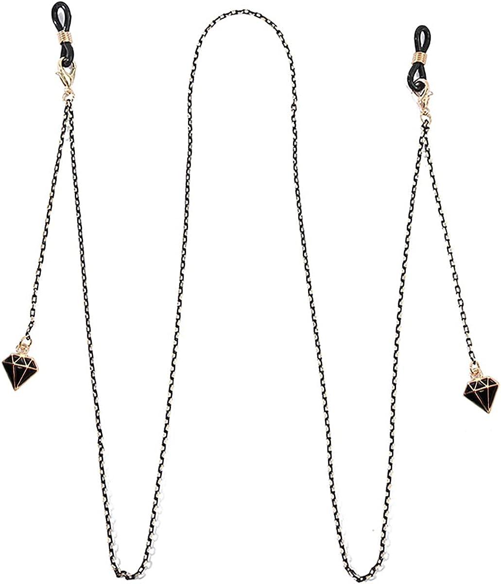 Mask Holder Chain Eyeglass Chain with Pendant, Aolaso Glasses Chain Mask Lanyard