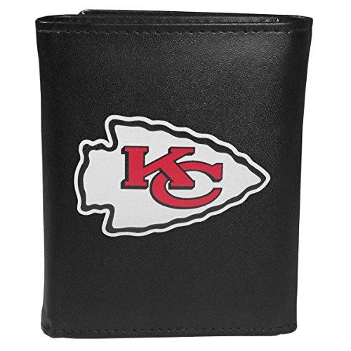 Siskiyou Sports NFL Kansas City Chiefs Tri-Fold Wallet Large Logo Black