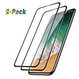 Shop Sales Deals Femkeva iPhone Xs Screen Protector, [2 Pack] 6D Full Coverage Anti-Bubble Ultra HD 9H Hardness Scratch-Resistant Tempered Glass Screen Protector Compatible for iPhone Xs/X