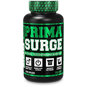 PRIMASURGE Testosterone Booster for Men - Boost Lean Muscle Growth Strength Energy & Fat Loss   Natural Test Booster Supplement w/ Premium PrimaVie Ashwagandha & More - 60 Veggie Pills