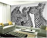 Papel Pintado Pared 3D Animal Salvaje Cebra Abstracto Blanco Y Negro Papel De Pared Tela No Tejida Fotomurales De Decorativos Pared Murales 350x245cm