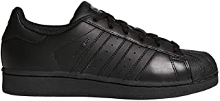 adidas Originals Superstars Running Shoe, Black, 7 M US Big Kid