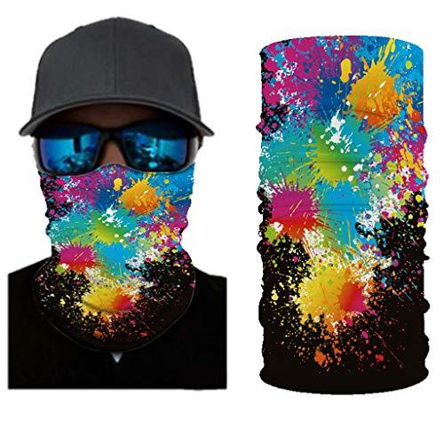 Dasongff Divertida bandana 3D, pañuelo para la cabeza, pañuelo para el cuello, para hombre y mujer, multifunción, para deporte, de secado rápido, para exteriores