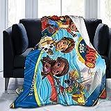 Santiago - Manta de franela de mar para sofá, sala de estar, dormitorio