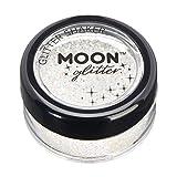 Miscelatori per glitter iridescente della Moon Glitter – 100% Cosmetico per viso, corpo, unghie, capelli e labbra - 5gr - Bianco