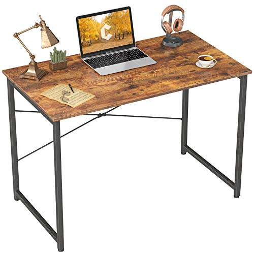 Cubicubi Escritorio para ordenador de 81,28 cm, para casa, oficina, portátil, mesa de estudio, estilo simple, estilo rústico, marrón