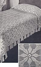 Vintage Crochet PATTERN to make - MOTIF Block Bedspread in Vespers Filet Crochet Design. NOT a finished item. This is a pattern and/or instructions to make the item only.