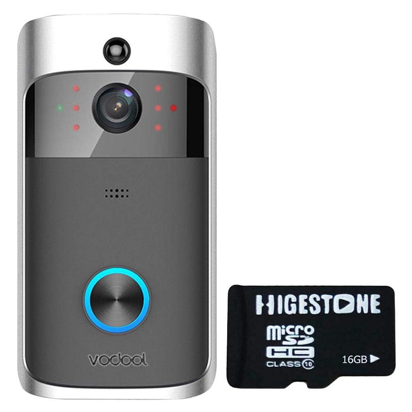 Widewing Vodool V5 Smart WiFi Video Doorbell Visual Intercom with 16GB Card (Grey)
