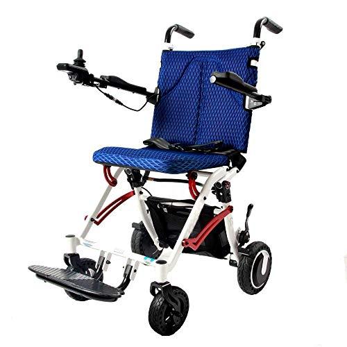 WXDP Silla de Ruedas autopropulsada,Multifuncional Ultraligero para niños, Que se Puede Llevar en el avión, portátil Ligero, Moto Dual de 250 W