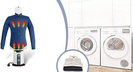 TECHNOSMART 8719831794768 850W Máquina Planchado para Camisas y Blusas, Tallas XS a XXL, 65 °C, Aire Caliente y frío, 850 W, Secado automático y ...