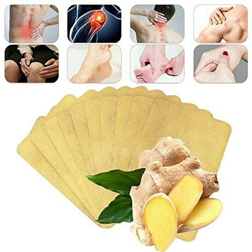 100 PCS Kräuter Ingwer Patch Fördern Sie die Durchblutung Ingwer-Nabel-Patch Schmerzen lindern und den Schlaf verbessern, Gelenkschmerzen Linderung Komprimieren Sie Paste Cold Knee Foot Stickers