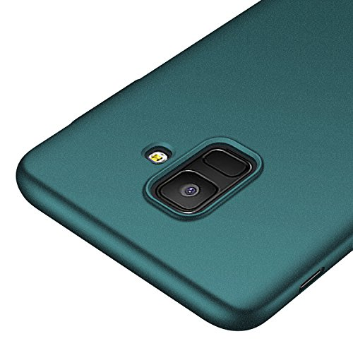 Galaxy A6 Case,kqimi [Ultra-Thin] Premium Material Slim Full Protection Cover for Samsung Galaxy A6 2018 (Gravel Green)