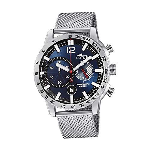 Lotus Herren Analoger Quarz Uhr mit Edelstahl Armband 10137/2