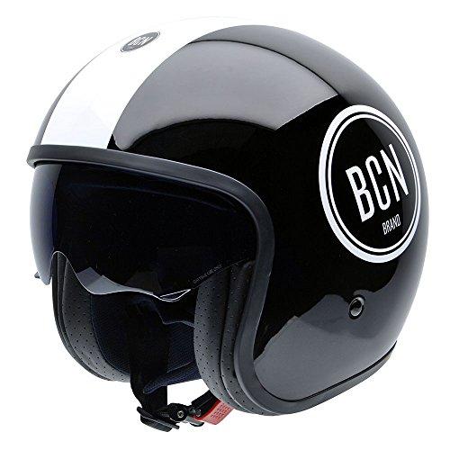 NZI Rolling BCN Motorradhelm, Schwarz/Weiß, L