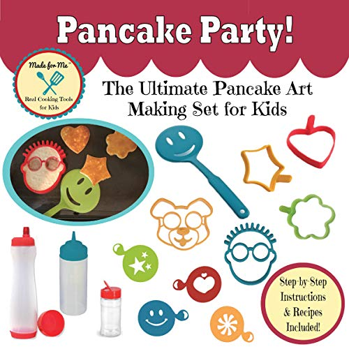 Pancake Party! - The Ultimate Pancake Art Making Set for Kids with Step-by-Step Fun and Easy Recipes! /'Made for Me' Real Cooking Tools and Baking Kits for Children