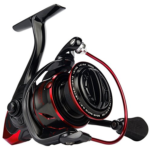 KastKing Sharky III Fishing Reel - New Spinning Reel - Carbon Fiber 39.5 LBs Max Drag - 10+1 Stainless BB...