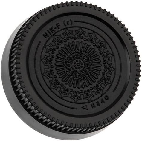 Fotodiox Max 51% OFF Designer Black Rear Lens F- Boston Mall Compatible with Cap Nikon