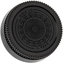Fotodiox Designer (Black) Rear Lens Cap Compatible with Nikon F-Mount Lenses Such as Non-AI, AI, AIS, AF, AFD, AFS, G, DX, FX