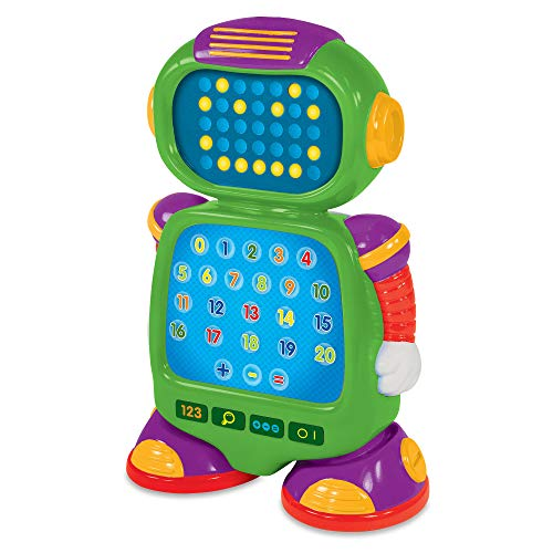 The Learning Journey Touch & Learn - NumberBot - Interactive Mathematics Robot STEM Toy with Three Quiz Modes - Preschool Toys & Gifts for Boys & Girls Ages 3 & Up - Dr. Toy?s Best Picks Award Winner