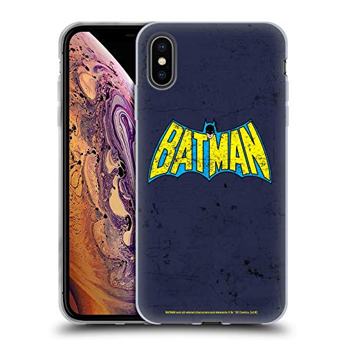 Head Case Designs Oficial Batman DC Comics Aspecto clásico Envejecido. Logotipos Carcasa de Gel de Silicona Compatible con Apple iPhone XS MAX