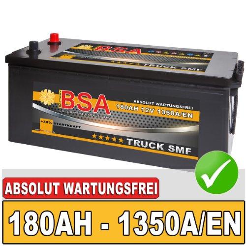 BSA LKW Batterie 180AH SHD Starterbatterie 12V absolut wartungsfrei ersetzt 155Ah 170Ah !
