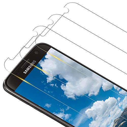 RIIMUHIR [3 unidades] Protector de pantalla de cristal templado para Samsung Galaxy S7 Protector de pantalla antiburbujas, antiarañazos, HD transparente, delgado y de alta definición para Samsung S7