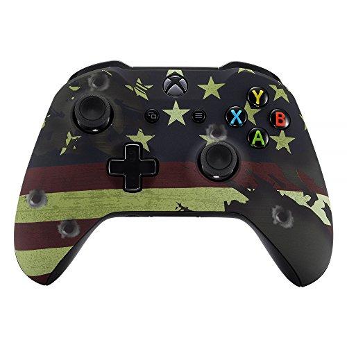 eXtremeRate Gehäuse für Xbox One X/S Controller,Hülle Case Zubehör Ersatzteile Faceplate für Xbox One S/Xbox One X Controller(Flagge des USA)