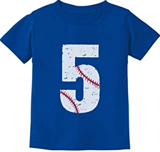 TeeStars - Baseball 5th Birthday Gift for Five Year Old Toddler Kids T-Shirt
