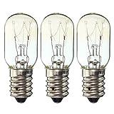 Mobestech 3 Pcs 25W E14 220-230v Edison Bulb Geladeira Ampola Retro Lâmpada de filamento de tungstênio Lâmpada incandescente Lâmpada de sal - luz amarela quente