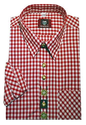Orbis Textil Trachtenhemd rot-weiß XXXXL