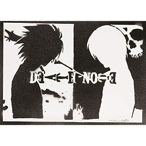 Death Note Poster Plakat Handmade Graffiti Sreet Art – Artwork