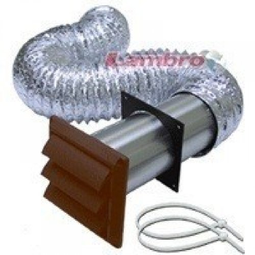 BROAN-NUTONE 1379B Louvered Dryer Vent Kit, Brown