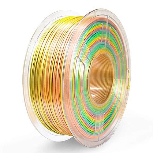 3D Printing Filament PLA 1.75mm ,1KG Multi-Colors Accuracy Dimension +/-0.02mm for Choose 3D Printer Filament Plastic-_Silk_Rainbow_01