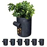 Gardzen 6 Pack BPA-Free 10 Gallon Vegetable Grow Bags with Access Flap and...