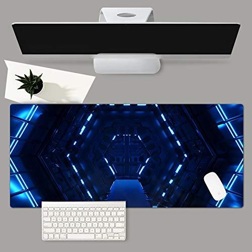 Blauwdruk Gaming-Muismat Grote Computermuismat Antislip Rubberen Vergrendelrand Bureaumat 570X330X3Mm