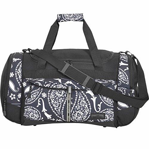 KEANU Sporttasche Adventure Damen Herren ** Viele Fächer z.B. Schuhfach, Seitentaschen, Vordertasche ** 45 Liter Fitness Tasche Sport Sauna Tasche Reisetasche Handgepäck (Black Bandana)