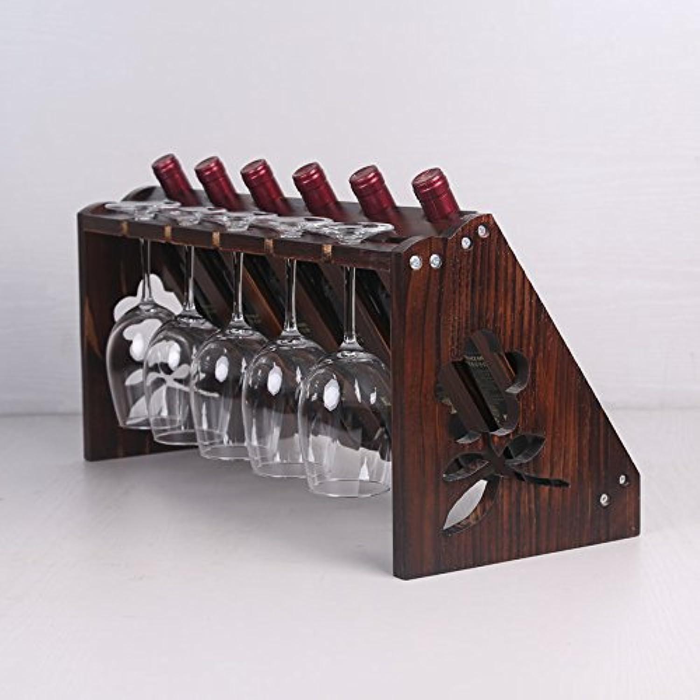 en promociones de estadios Bastidor de madera maciza vino vino vino decoracion hogar Living display rack bastidor de vino Copa Europea moderna, Copa de vino al reves,D  nuevo listado