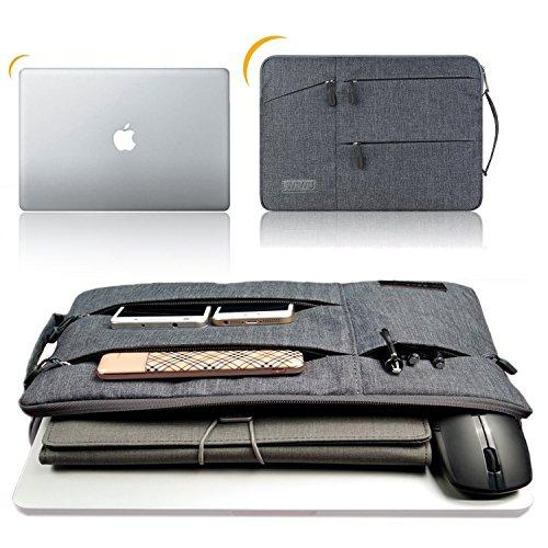WIWU裏起毛PCインナーバッグ二層構造11.6/12/13.3/15.6/16インチ衝撃吸収防水pcインナーケースノートパソコンケースMacBookAir/Pro/surfacepro/ThinkPad/Dynabook/Chromebook/ラップトップ用PCバッグ(13.3inchグレー)