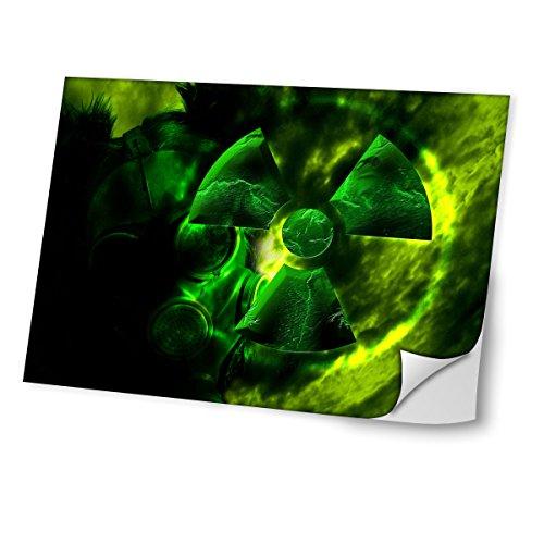 Virano Toxic 10002, Hazard, Skin-Aufkleber Folie Sticker Laptop Vinyl Designfolie Decal mit Ledernachbildung Laminat und Farbig Design für Laptop 17