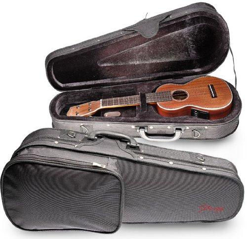Stagg HGB2UK-C Basic Concert Ukulele Soft Case with Adjustable Shoulder Strap - Black