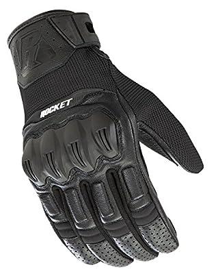 Joe Rocket Men's Phoenix 5.1 Hybrid Motorcycle Glove (Black/Black, XX-Large)