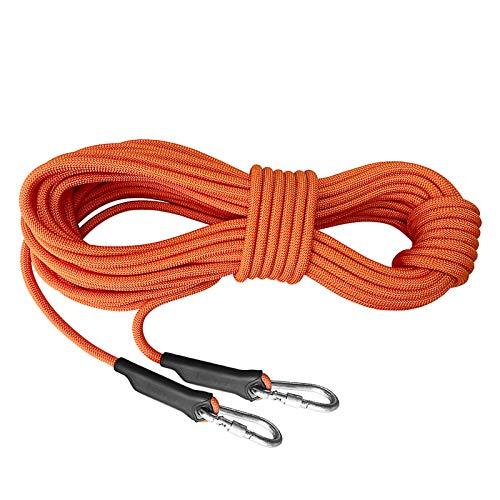 ZHWNGXOlian Cuerda De Operación Multifuncional para Exteriores De 12 Mm A Gran Altitud Cuerda De Unión De Cuerda De Caída Rápida, Fuerza De Tracción 1800 KG (Naranja)(Size:30M)