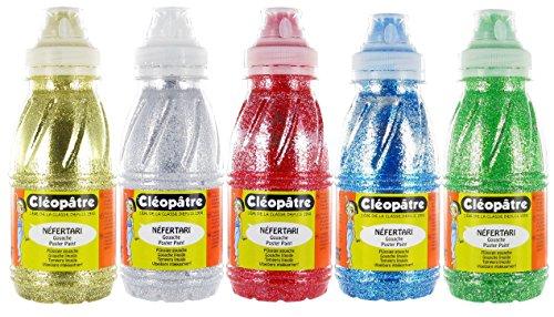 Cleopatre - GP250x5A - Lote de 5 frascos de gel brillante, 250 ml