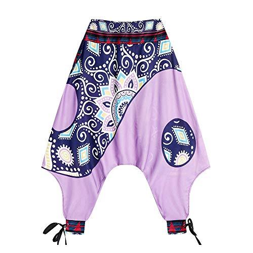 CQOQ Harem Hippie Pantalones De Las Mujeres De Impresión Digital Pies Sueltos Linterna Primavera/Verano Caliente De La Aptitud De La Mujer Pantalones De Yoga Pierna Ancha Pantalones Salón